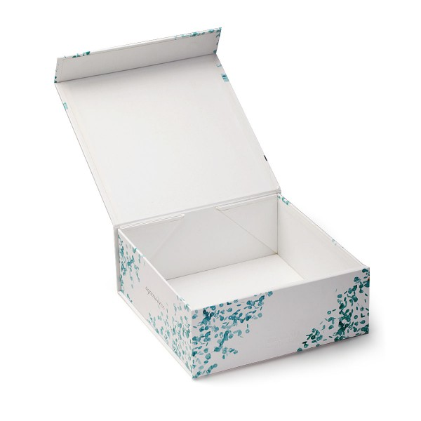 Handcraft Collapsible Paper Box With Blister Tray For Cosmetic Packaging